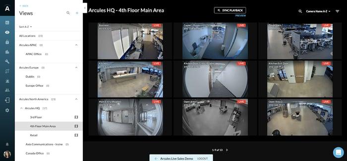 live video floor plan